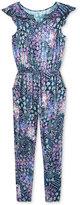 Jessica Simpson Embroidered Denim Jumpsuit, Big Girls (7-16)