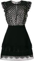 Elisabetta Franchi polka dot panel mini dress