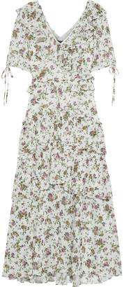 Marissa Webb Deandra Tiered Floral-print Georgette Midi Dress