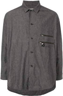 Issey Miyake Pre Owned 1980's Sports Line gathered back shirt
