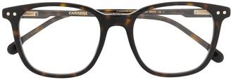 Carrera Round-Frame Tortoiseshell Glasses