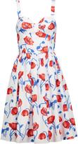 Oscar de la Renta Gathered floral-print cotton-poplin dress