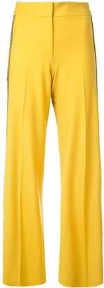 Oscar de la Renta embroidered grosgrain side trousers