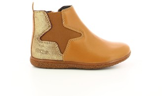 Kickers Kids Vermillon Leather Ankle Boots