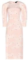 Simone Rocha Printed Silk Midi Dress