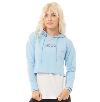 Bench Womens Lita Layered Cropped Hoodie Bluebell