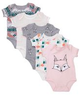 Rosie Pope® 6-9M Baby Girl 5-Pack Assorted Nordic Bodysuits in Pink