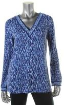 MICHAEL Michael Kors Womens Matte Jersey Printed Tunic Top