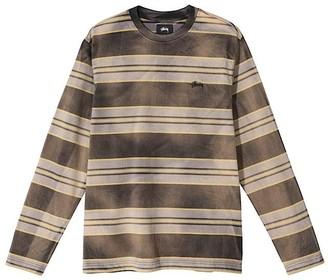 Stussy Black Bleach Stripe Shirt - s   black - Black/Black
