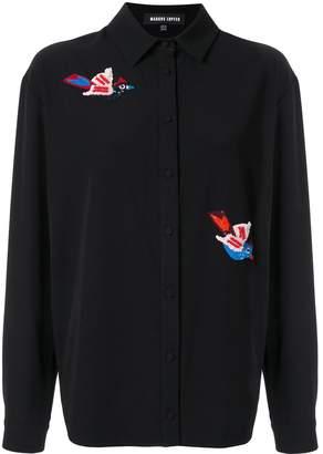 Markus Lupfer bird embroidered blouse