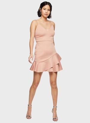 Miss Selfridge Pink Peplum Hem Mini Dress