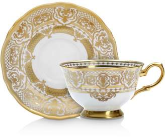 Carlsbad Queen White Tea Cup & Saucer Set