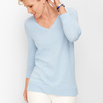 Talbots Double V Tie Back Sweater