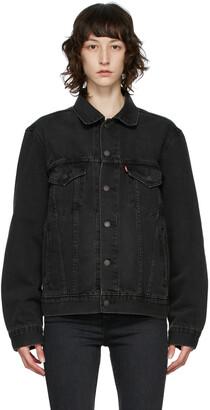Levi's Black Denim Vintage-Fit Trucker Jacket
