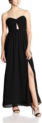 Little Mistress Women's Cut Out Bandeau Maxi Plain Sleeveless Dress