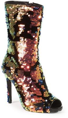 Lauren Lorraine Gal Peep Toe Sequin Boot