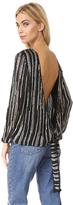Diane von Furstenberg Evvy Embellished Blouse