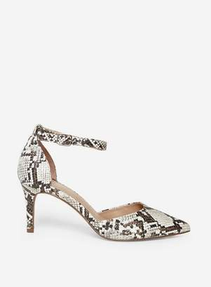 Dorothy Perkins Womens Wide Fit Multi Colour 'Demi' Snake Print Court Shoes