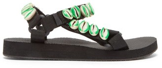 Arizona Love X Timeless Pearly Shell-embellished Sandals - Green