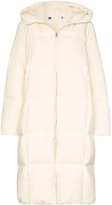 Jil Sander Plus hooded puffer coat