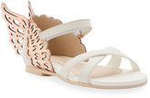 Sophia Webster Evangeline Metallic Butterfly-Wing Leather Sandals, Toddler