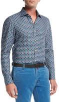 Kiton Medallion-Print Cotton Shirt