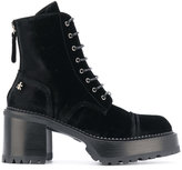 Premiata chunky heel lace-up boots