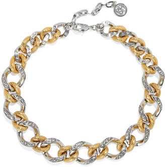 Ben-Amun 24-karat Gold And Silver-plated Crystal Necklace