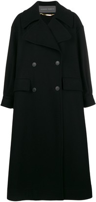 Alberta Ferretti Long Double-Breasted Coat
