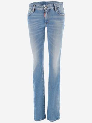 DSQUARED2 Medium Rise Flare Jeans