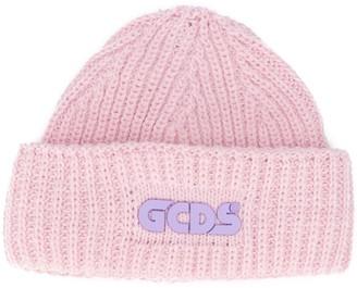 GCDS Ribbed Logo Beanie