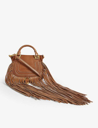 Chloé Marcie leather mini saddle bag