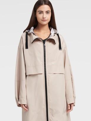 DKNY Unisex Oversized Hooded Rainarack - Chino - Size L