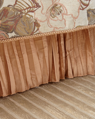 Austin Horn Collection Silk Pleated King Bed Skirt