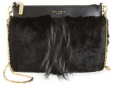 Ted Baker Barbera Faux Fur Crossbody Bag - Black