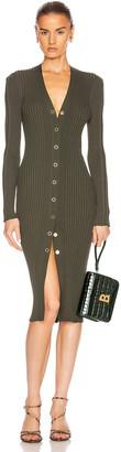 Dion Lee Pinnacle Pleat Cardigan Dress in Olive | FWRD