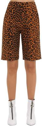 pushBUTTON Printed Shorts W/ Lace-Up Detail