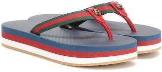 Gucci Plateau leather-trimmed sandals