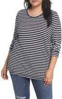 Caslon Plus Size Women's Long Sleeve Crewneck Tee