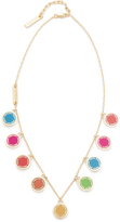 Marc Jacobs Logo Disc Rainbow Statement Necklace