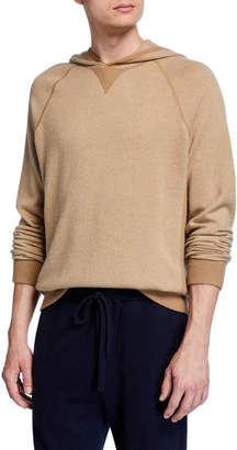 Vince Men's Birdseye Wool-Blend Pullover Hoodie