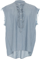Nili Lotan Charlton Pleated Ruffle Shirt