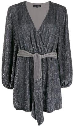 retrofete Julie embellished wrap dress