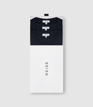 Reiss Bless - Three Pack Of Crew Neck T-shirts in Navy