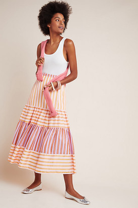 DOLAN Collection Frida Maxi Skirt By Dolan Left Coast in Red Size XS