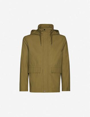 Sandro New Deck hooded cotton-twill coat