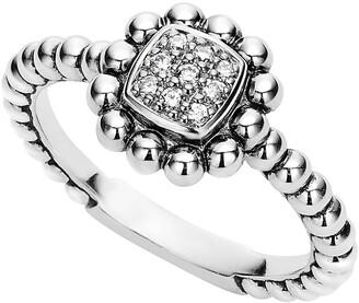 Lagos Caviar Spark Diamond Square Ring