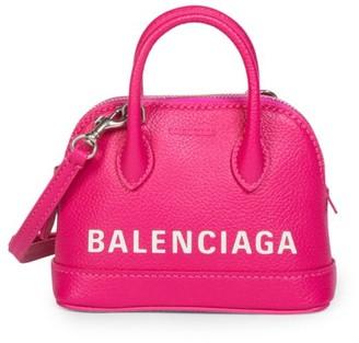 Balenciaga Nano Ville Leather Top Handle Bag