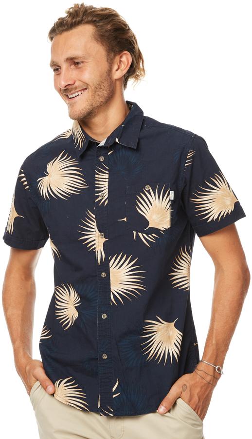 rhythm Pacifico Ss Mens Shirt Blue