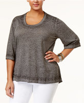 Melissa McCarthy Trendy Plus Size Burnout Top